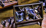 Boots Posters - Shoe - The shoe cobblers box Poster by Paul Ward