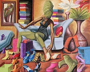 Earthtone Paintings - Shoe Addict by Dion Pollard
