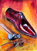 Hand Crafted Paintings - Shoe making by Mrutyunjaya Dash