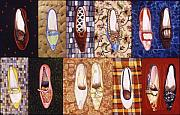 Grid Mixed Media - Shoe Sampler by Karl Frey