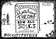 Book Cover Drawings - Shoe string theory book title cartoon by Yasha Harari