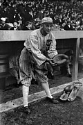 Baseball Mitt Photos - Shoeless Joe Jackson, Pretending by Everett
