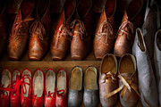 Worn In Metal Prints - Shoemaker - Shoes worn in life Metal Print by Mike Savad