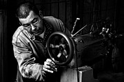 At Work Metal Prints - Shoemaker Metal Print by Ilker Goksen