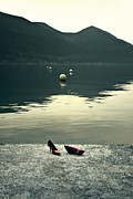 Buoys Prints - Shoes At A Lake Print by Joana Kruse