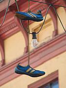 Adidas Prints - Shoes hanging Print by Jeff White