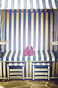 Beach Chair Photo Framed Prints - Shoes In A Beach Chair Framed Print by Joana Kruse