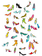 High Heels In Color Metal Prints - Shoes Metal Print by Kei Hiramatsu