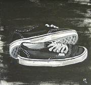 Shoes Print by Laura Evans