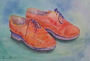 Laces Painting Posters - Shoes of a Different Colour Poster by Laurel Thomson