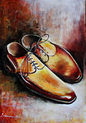 Hand Crafted Paintings - Shoes on display by Mrutyunjaya Dash