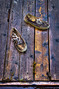 Tennis Shoes Art - Shoes on the Dock by David Patterson