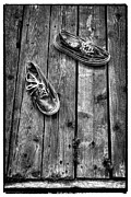 Tennis Shoes Framed Prints - Shoes on the Dock II Framed Print by David Patterson