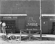 Folk Art Photos - Shoeshine Stand, Southeastern U.s by Everett