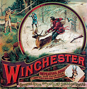 Winchester Posters - Shoot Or Youll Lose Him Poster by Fredrick Remington
