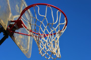 Net Framed Prints - Shootin Hoops Framed Print by Karen M Scovill