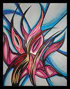 Abstract Drawings - Shooting Flower by Tara Francoise
