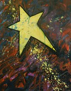 Gold Color Paintings - Shooting Star by Carol Suzanne Niebuhr