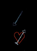 Night Scenes Photos - Shooting Star of Love by Emily Stauring