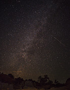 Nature Photo Prints - Shooting Stars in the Milky Way Print by Andrew Soundarajan