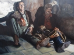 Cowboys  Painting Originals - Shootout at San Vincente by Kenneth Kelsoe