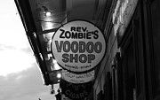 Voodoo Shop Posters - Shop Signs French Quarter New Orleans Black and White Poster by Shawn OBrien