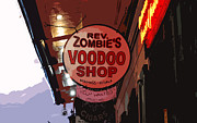 Voodoo Shop Posters - Shop Signs French Quarter New Orleans Cutout Digital Art Poster by Shawn OBrien