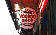 Voodoo Shop Posters - Shop Signs French Quarter New Orleans Diffuse Glow Digital Art Poster by Shawn OBrien