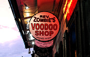 Voodoo Shop Posters - Shop Signs French Quarter New Orleans Fresco Digital Art Poster by Shawn OBrien