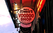 Voodoo Shop Posters - Shop Signs French Quarter New Orleans Ink Outlines Digital Art Poster by Shawn OBrien