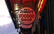 Voodoo Shop Posters - Shop Signs French Quarter New Orleans Poster Edges Digital Art Poster by Shawn OBrien