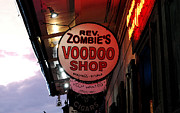 Voodoo Shop Posters - Shop Signs French Quarter New Orleans Watercolor Digital Art Poster by Shawn OBrien