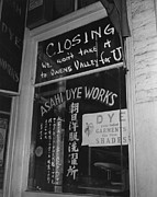 Businesses Prints - Shop Window Of The Japanese American Print by Everett