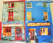 Shopfronts Framed Prints - Shopfronts Galway Framed Print by Conor McGuire