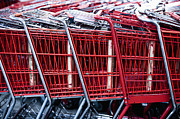 Grocery Store Prints - Shopping Carts Print by Sam Bloomberg-rissman
