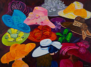 Kentucky Derby Painting Originals - Shopping for the Perfect Derby Hat by Dani Altieri Marinucci