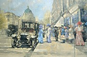 High Society Painting Posters - Shopping in Style Poster by Peter Miller
