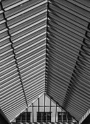 Architectural Detail Framed Prints - Shopping Mall Roof Framed Print by Robert Ullmann