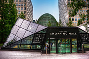 Canary Wharf Posters - Shopping Mall Poster by Svetlana Sewell