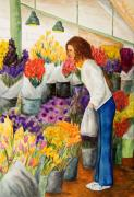 Wa Paintings - Shopping Pikes Market by Vicki  Housel