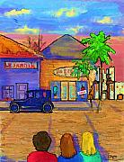 Streetscenes Art - Shopping Trio by Arline Wagner