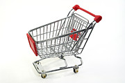 Shopping Cart Prints - Shopping Trolley Print by Friedrich Saurer