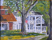 Historic Home Painting Prints - Shore Drive East Print by Robert P Hedden