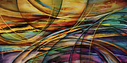 Abstract Impression Paintings - Shore by Michael Lang