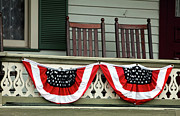 Rocking Chairs Photos - Shore Patriotism  by John Rizzuto