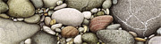 Round Metal Prints - Shore Stones Metal Print by JQ Licensing