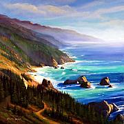 Pacific Ocean Painting Posters - Shore Trail Poster by Frank Wilson