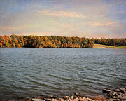 Autumn Landscape Art - Shoreline by Jai Johnson