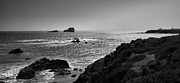 Pacific Ocean Prints Prints - Shoreline Near Piedras Blancas I Print by Steven Ainsworth