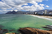 Bathing Photos - Shoreline of Ipanema  by George Oze